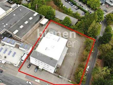 Ideal für Produktion und Lager: Liegenschaft mit Halle, überdachter Andienung, Bürogebäude