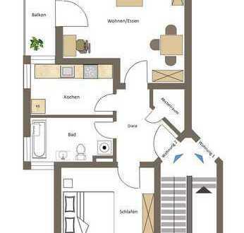 Helle 2 Zimmer Wohnung in toller Lage