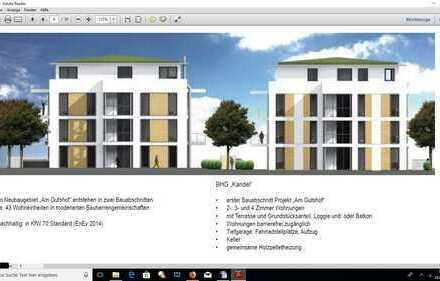 Neubau: Schöne Zwei-Zimmer-Wohnung mit Küche in Gutach i. Br.