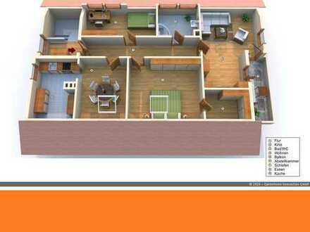 Moderne gepflegte Wohnung mit Balkon und Gartenmitbenutzung