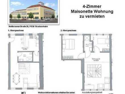 Tolle 4-Zimmer Maisonette Wohnung (Nr. 1.14 C, 1./2. OG)