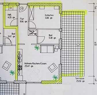 Erstbezug mit Terasse: ansprechende 2-Zimmer-EG-Wohnung in Oldenburg