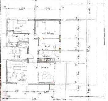Gepflegte 4-Raum-Wohnung mit Balkon und Einbauküche in Dossenheim
