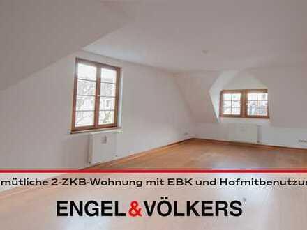 Gemütliche 2-ZKB-Wohnung mit EBK und Hofmitbenutzung!