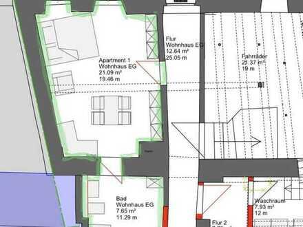 Erstbezug nach Sanierung mit EBK: schöne helle 1-Zimmer-Wohnung in der Altstadt von Dettelbach