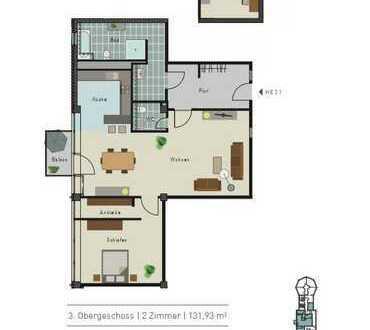 Erstbezug nach Sanierung, traumhaftes Apartment mit EBK, Parkett und Balkon