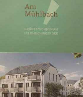Neubauwohnung mit 100 qm Garten S/W - Fertigstellung 30.06.2019 2-Zimmer in Feldmoching, München
