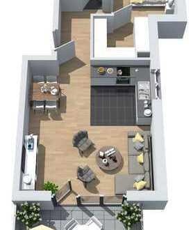 Neubau: 2-Zimmer-Wohnung mit Südbalkon und begehbarem Kleiderschrank