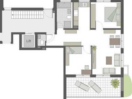 Praktisch geschnittene 3-Zimmerwohnung im EG mit großzügiger Terrasse