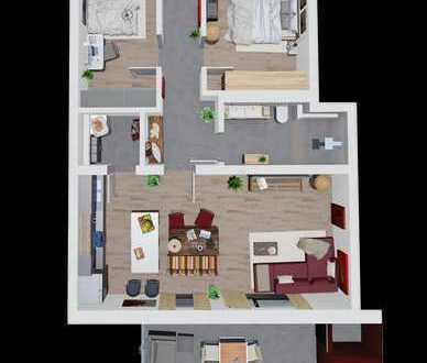 3 Zimmer Wohnung mit moderner Raumplanung in Toplage