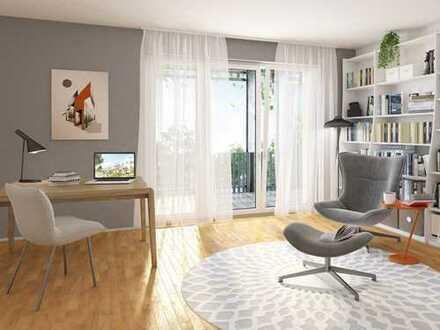 Die eigene Bibliothek in Ihrer 2-Zimmer-Wohnung mit modernem Wohnkomfort und Balkon