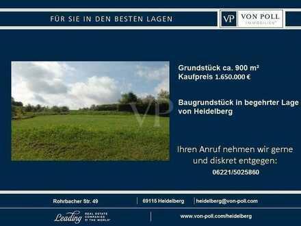 Von Poll Immobilien : Baugrundstück in begehrter Lage von Heidelberg