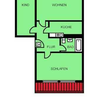 Hübsche Dachgeschosswohnung in ruhiger Lage - 3 Zimmer + EBK