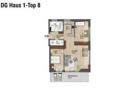Wohnen im Dachgeschoss, schön aufgeteilt, mit großer Süd-West-Dachterrasse