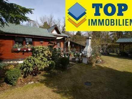 Schmuckes Blockhaus mit herrlichem Sonnengarten. Ruhig und grün. (4452)