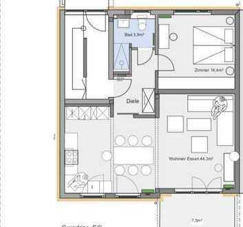 Erstbezug nach Sanierung mit EBK und Terrasse: 2-Zimmer-Erdgeschosswohnung in Stuttgart