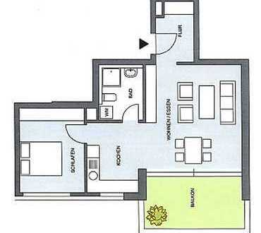 Erstbezug mit EBK und Balkon: freundliche und helle 2-Zimmer-Wohnung in Rheinfelden