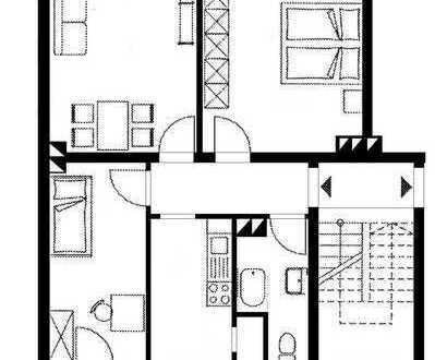 Zentrumslage - 3 ZKB Balkon - Sonnig und hell