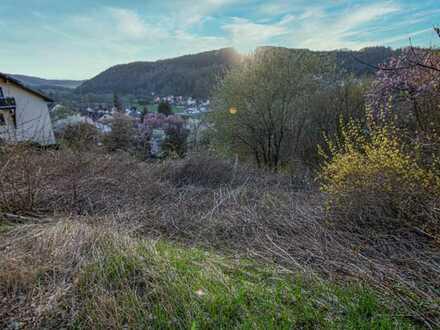 Baugrundstück in in herrlicher Südhanglage – unverbaubare Aussicht!