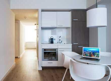 Modern möblierte 2-Zimmer-Wohnung mit Einbauküche und Waschmaschine, Innenstadtlage