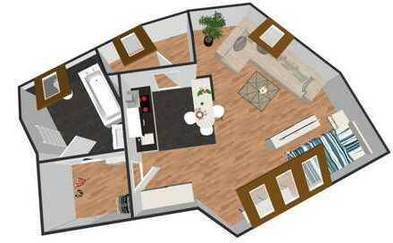Raffinierte Single-Wohnung mit Einbauküche in ruhiger Lage