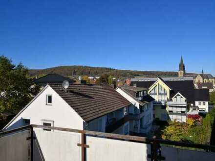 Der Blick über den Dächern Bad Driburgs ... und auf die Iburg
