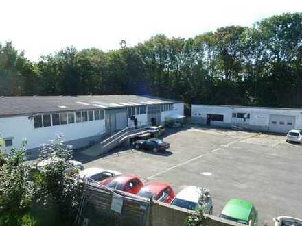 300 m² - 1.200 m² evtl. Halle/ Lagerhalle / Werkstatt mit Freifläche und optional Bürohaus