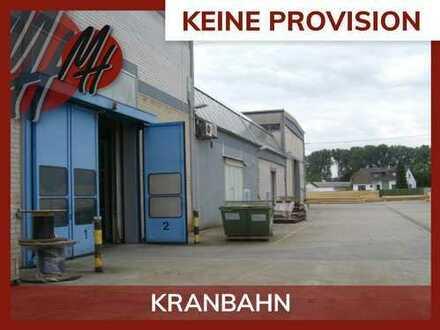 PROVISIONSFREI! 23 TO KRANBAHN! Lager-/Produktionsflächen (3.000 qm) zu vermieten