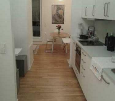 Stilvolle, möblierte, neuwertige 1,5-Zimmer-Wohnung mit Balkon und Einbauküche in Frankfurt am Main