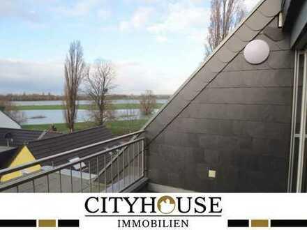 CITYHOUSE: Maisonettewohnung mit großem Südbalkon sowie Dachterrasse mit Rheinbllick und Garage