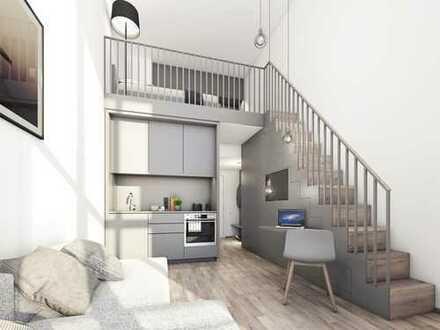 Neubau-Erstbezug-möbliertes Galerieapartment über 2 Ebenen-Fitness im Haus