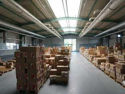 Beste Lage an der A5: Gewerbehalle/Lagerhalle mit Büro: Halle ca. 2.300 qm, Büro ca. 650 qm
