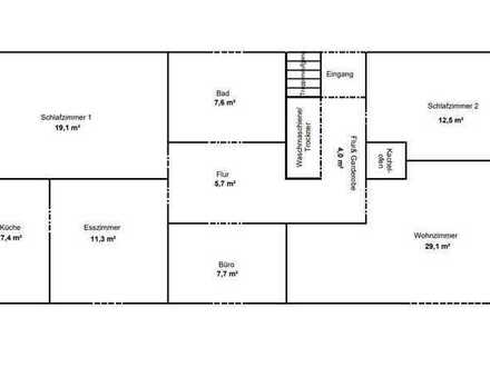 Erstbezug nach Sanierung mit Balkon: 5-Zimmer-Wohnung in Eltmann