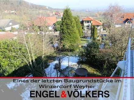 Eines der letzten Baugrundstücke im Winzerdorf Weyher