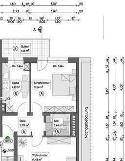 Vermietete Etagenwohnung (2.OG R) auf 54,88m², mit Balkon in Essen - Holsterhausen - Neugründung WEG