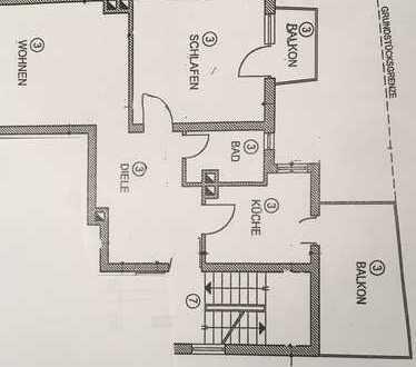 Vollständig renovierte 2-Zimmer-Wohnung mit Balkon in Darmstadt