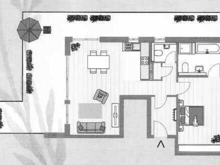 Erstbezug: 2-Zimmer-Penthouse-Wohnung mit 52 qm großer Dachterrasse