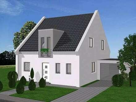Modernes, freistehendes Einfamilienhaus als KfW 55 Energie- Effizienz Haus