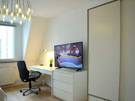Möblierte, gepflegte 2-Zimmer-EG-Wohnung mit Balkon und Einbauküche in Aachen