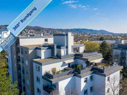 Schöne Penthousewohnung mit großer Terrasse und Balkonen in Weinheim