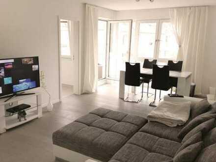 Modernisierte 2-Zimmer-Wohnung. Eichenparkett, Fußbodenheizung, Balkon und EBK Nähe Hirschgarten