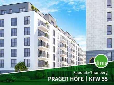 ROHBAU   MODERNE CITYWOHNUNG   Prager Höfe   KfW 55   Balkon   TG   Praktischer Grundriss