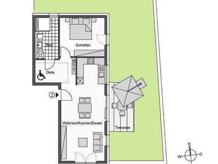 Lichtdurchflutete 2-Zimmer-Wohnung mit Gartenanteil (Whg. 2)