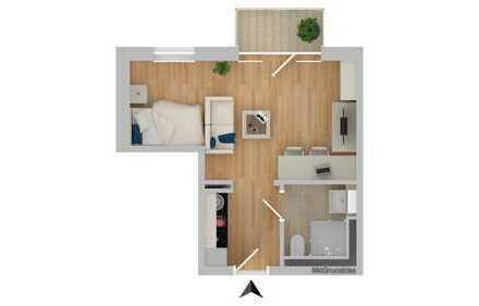 Für Kapitalanleger: 1-Zimmer-Appartement mit Balkon