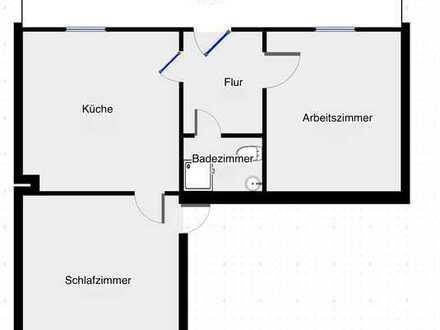 Erstbezug nach Sanierung: exklusive 2,5-Zimmer-EG-Wohnung mit Terrasse in Maidbronn