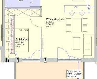 Komfortable Neubau-Zweizimmerwohnung mit großem Balkon - Provisionsfrei! (C18)