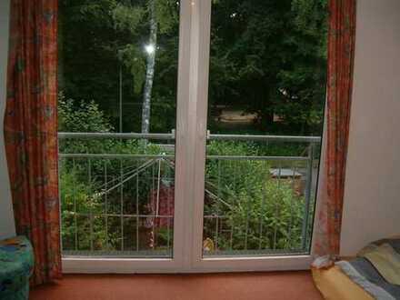 helles, geräumiges Zimmer mit eigenem Bad und Küche, im Grünen