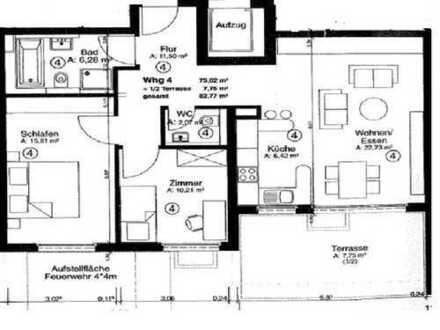 Stuttgart-Sillenbuch: Helle 3 Zimmer EG-Wohnung (82,5m2) mit EBK und TG-Stellplatz