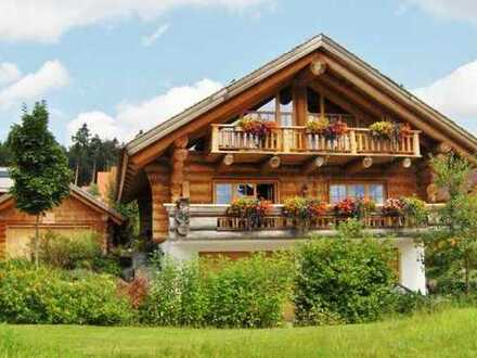 Leben mit der Natur - im Holzblockhaus!