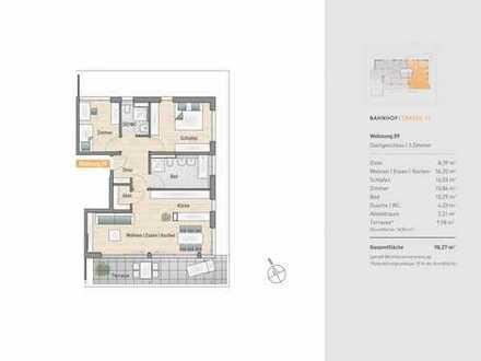 Großzügige 3 Zimmer-Wohnung mit Dachterrasse Richtung Süden und zwei Tageslichtbäder